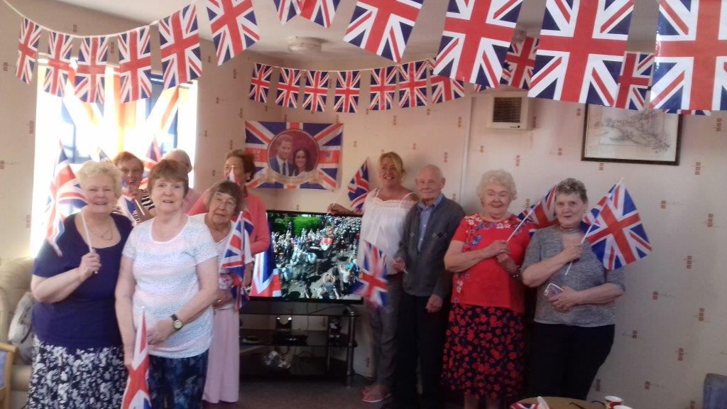 Ormond House residents celebrate the royal wedding