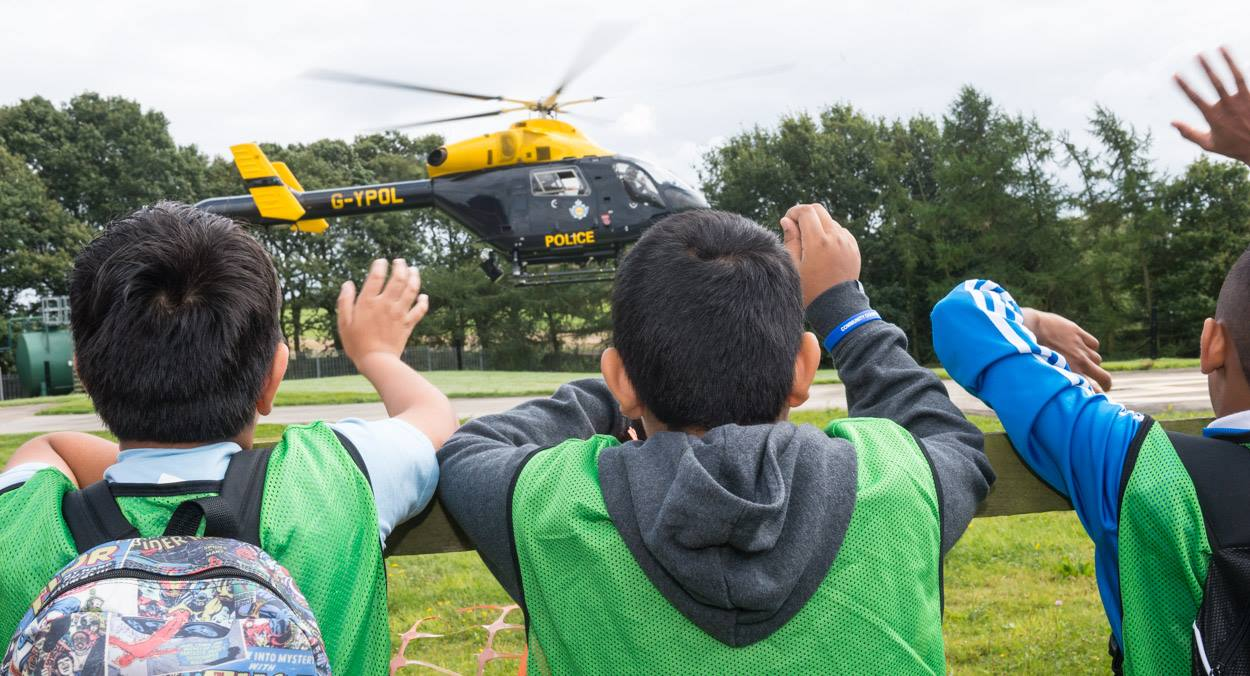 Kids enjoy great activities on the police summer camp programme