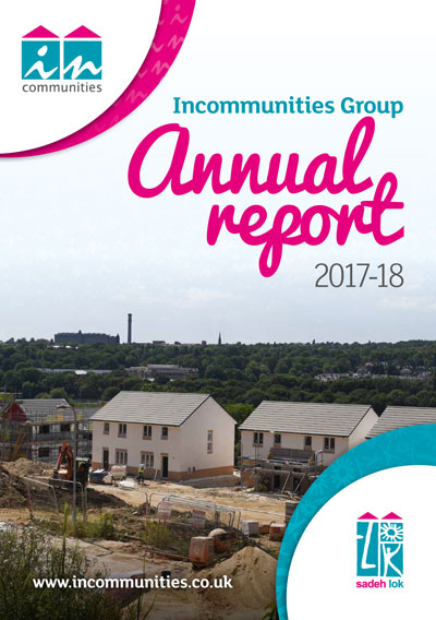 Incommunities Group Annual Report 2017 - 2018 front cover