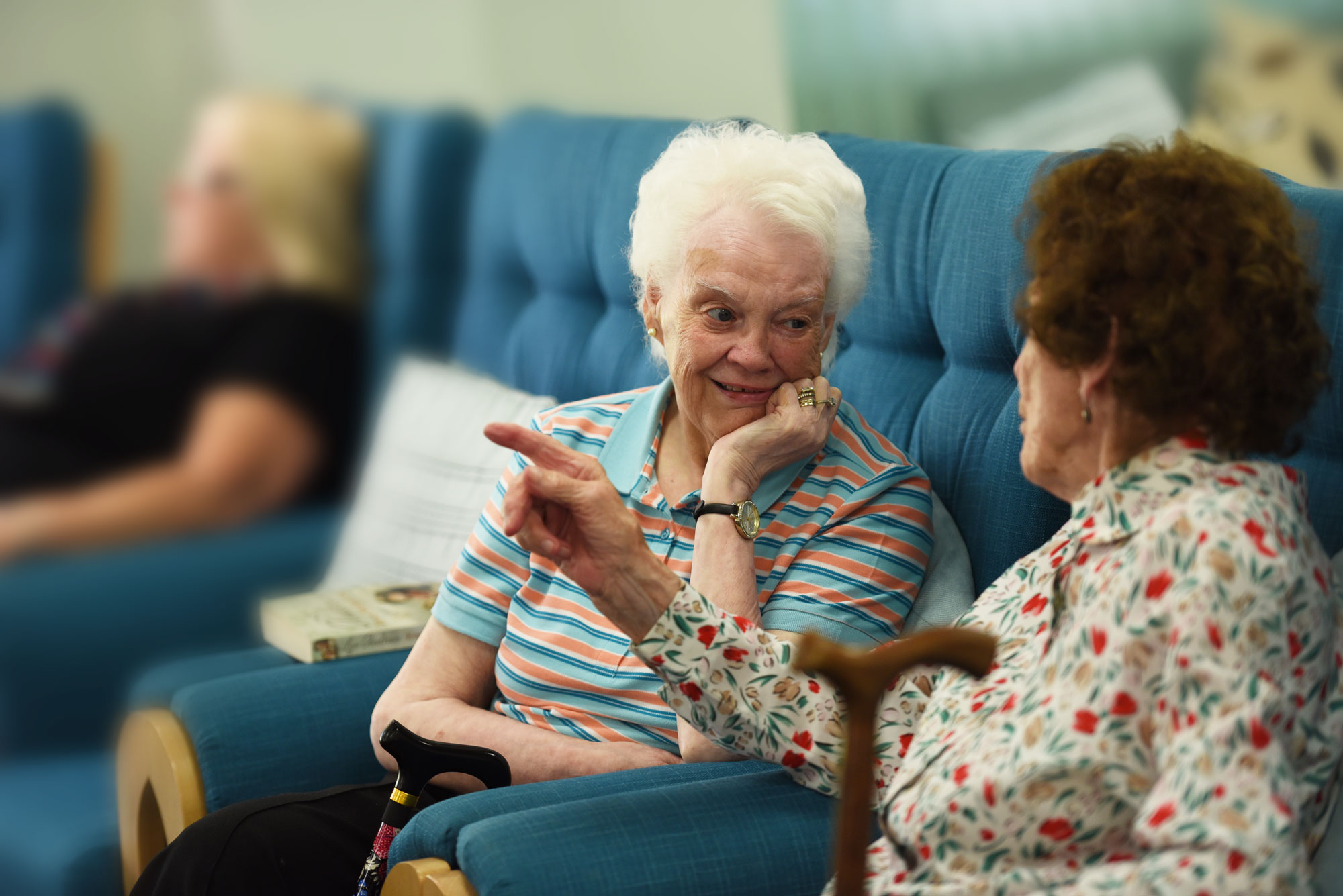 retirement living customers enjoy at chat