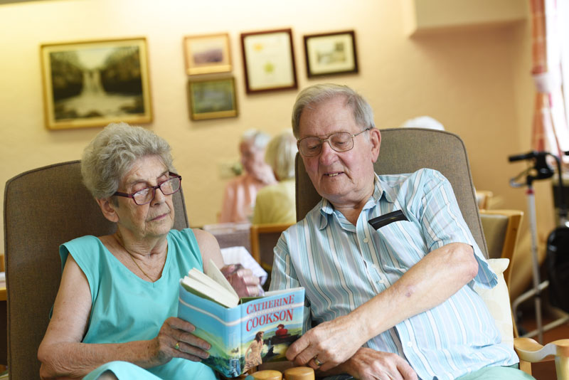 retirement living couple enjoying a ead