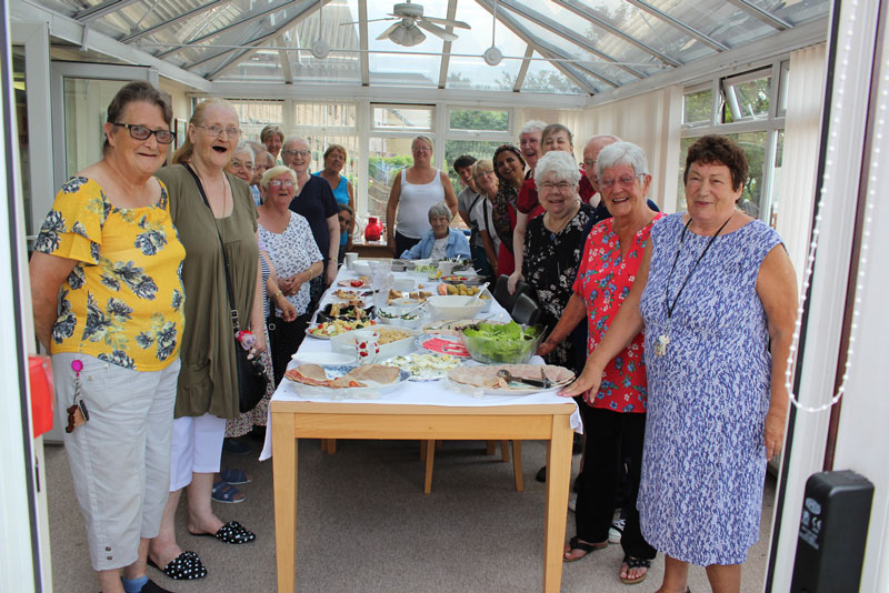 retirement living customers enjoying a get together