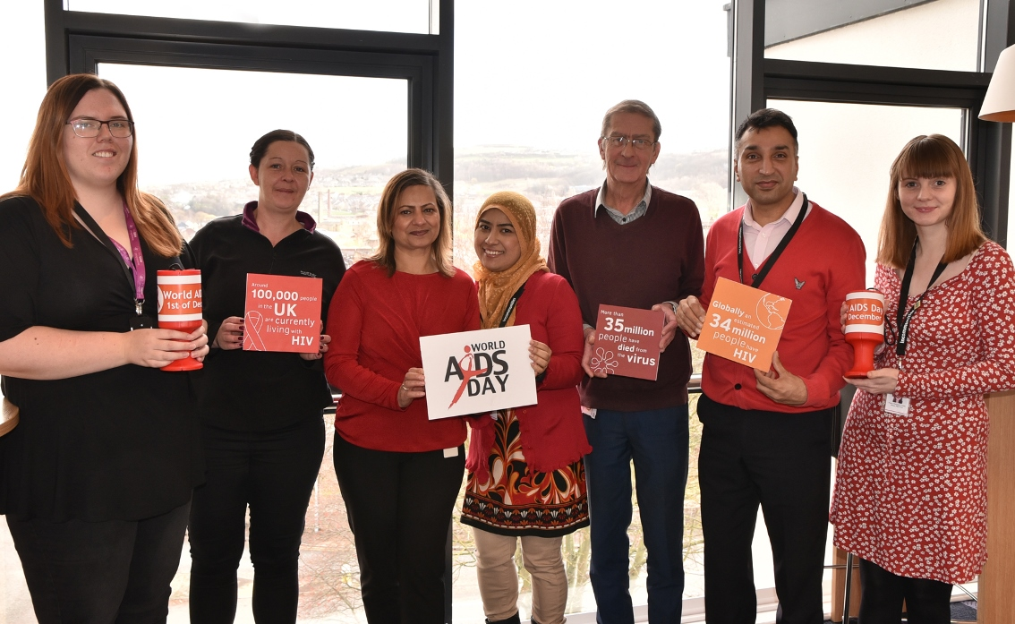 Staff raising funds for World Aids Day 2018