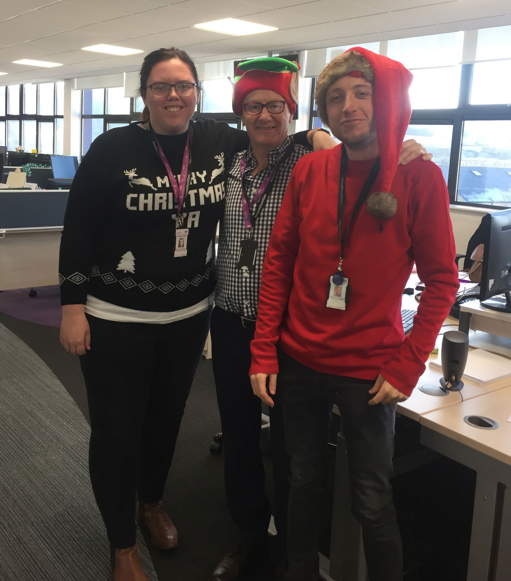 Incommunities staff fundraiser for Christmas Jumper Day