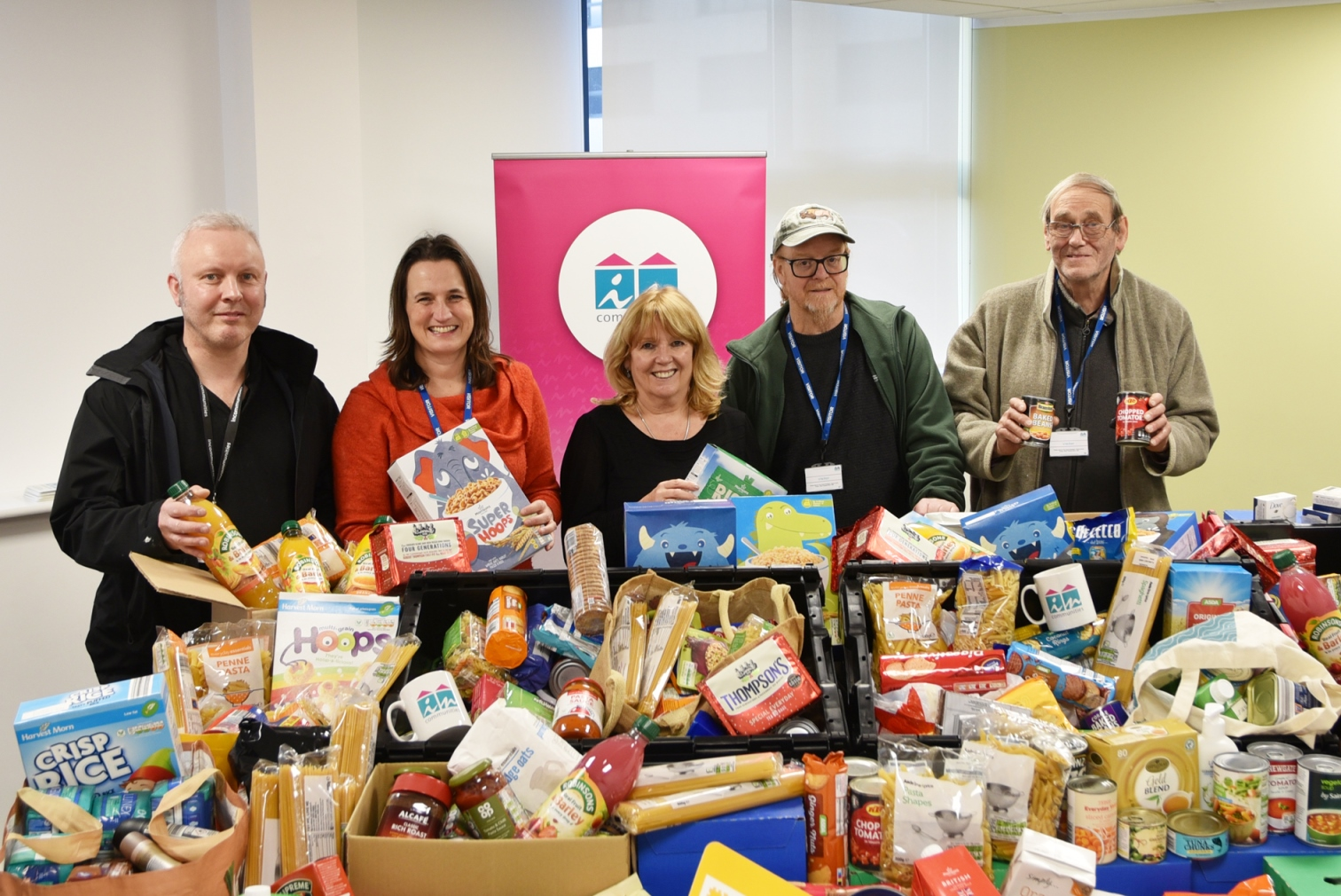 Incommunities Group foodbank donation