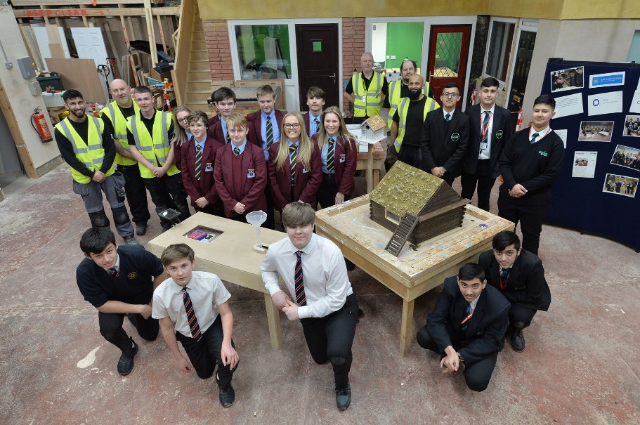Students take part in the Interbuild schools competition March 2019