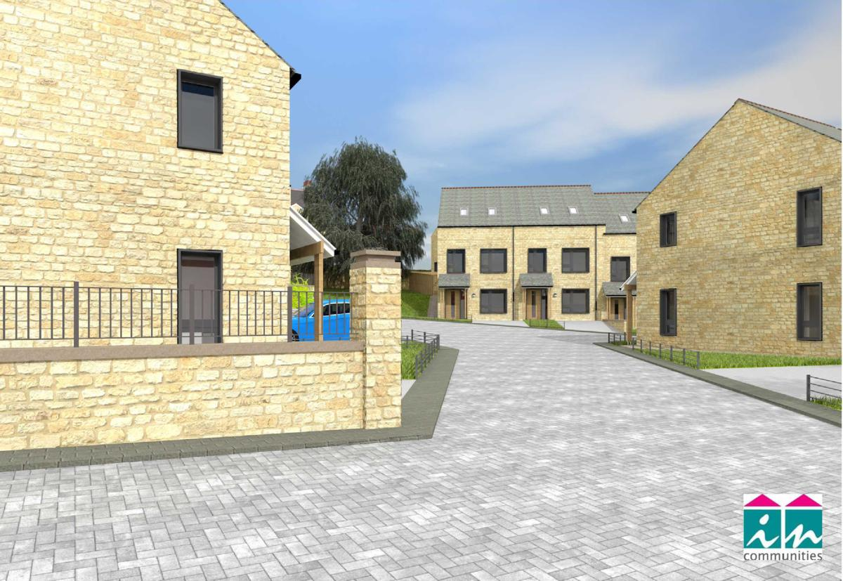 Saltaire new homes artists impression