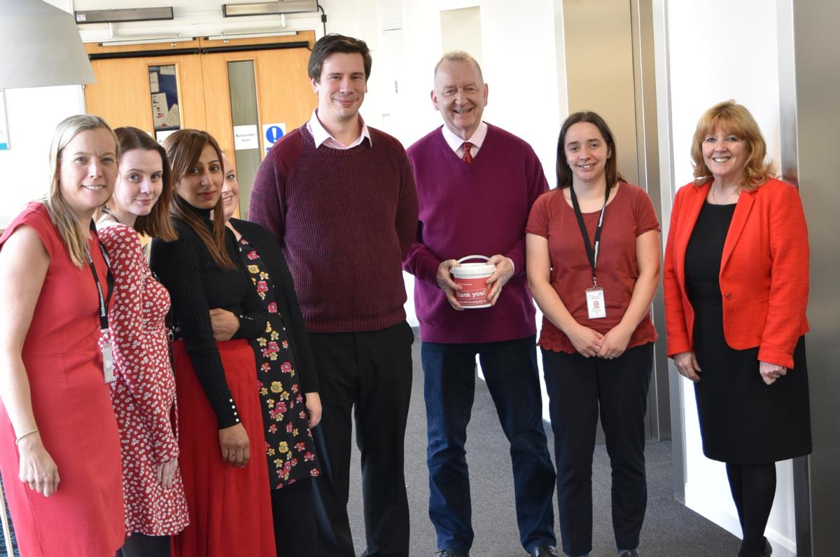 Staff raise funds for Wear Red Day