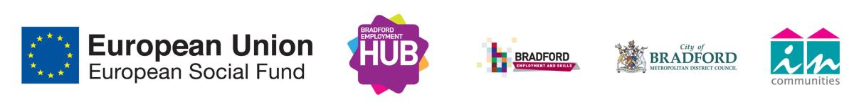 Eurpoean funded Bradford Employment Hub partners