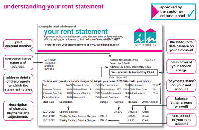 your rent statement
